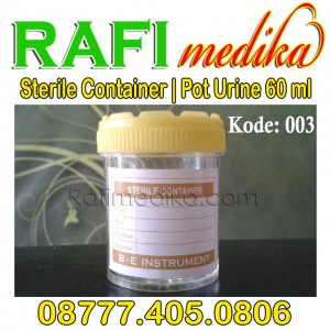 Pot Urine Sterile Container 60 ml isi 100