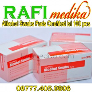 Alkohol Swabs Pads OneMed isi 100 pcs