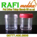 Pot Urine Tutup Merah 60 cc ml