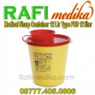 Tempat Sampah Medis | Medical Sharp Container 12 Ltr Type PBS 12 Ltr