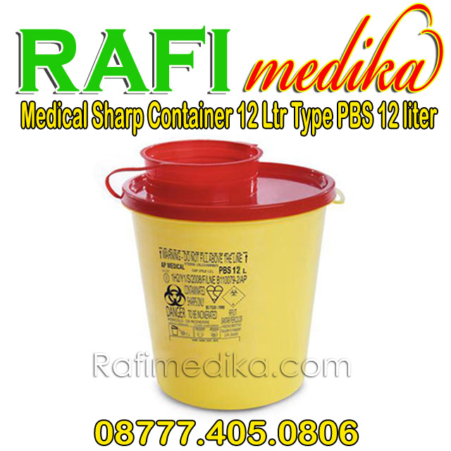 Medical Sharp Container 12 Ltr Type PBS 12 liter