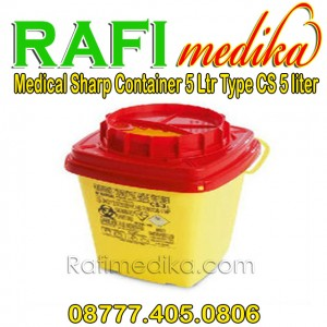 Tempat Sampah Medis | Medical Sharp Container 5 Ltr Type CS 5 Ltr