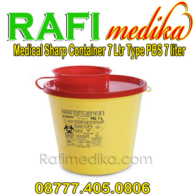 Medical Sharp Container 7 Ltr Type PBS 7 liter